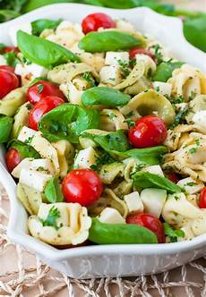 Tortellini Salat Rezept - caprese tortellini pasta salad make ahead totally