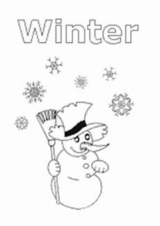 Kinder Malvorlagen Winter Ausmalbilder Winter Jahreszeit