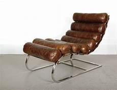 Chaise Longue Waco Vintage Cigare Fauteuil Club Cuir Relax