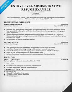 fantastic free entry level administrative resume for you to use resumecompanion com resume