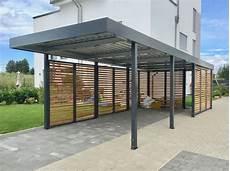 Carport Mit Schuppen Preise - carport aus metall mit rhombus wandelementen im modernen
