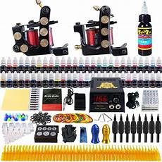 solong tattoo complete tattoo kit 2 machine gun 54 ink