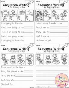 writing activity worksheets for grade 1 22845 free sequence writing for beginning writers sequence writing kindergarten writing prompts