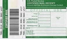 certified mail return receipt template preliminary notices certified mail v certified mail