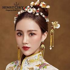 Asian Style Hair Accessories himstory traditional national wedding hair