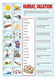 esl activities worksheets 15438 vacation matching exercise esl worksheets for distance learning and physical classrooms
