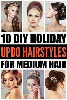 diy hair updo pinterest diy updo hairstyles 10 holiday hairstyles for medium hair