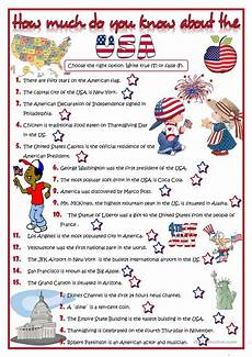 usa worksheets 15590 how much do you about the usa quiz worksheet free esl printable worksheets made by
