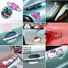 hello car stickers and decals pink car