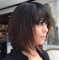 Layered Medium Hairstyles With Bangs