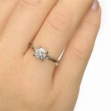 moissanite engagement ring 18ct white or yellow gold by lilia nash jewellery