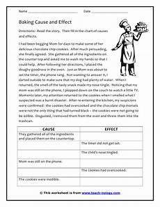 reading cause and effect worksheets mreichert kids worksheets