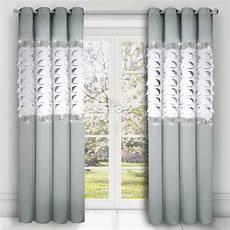 gardinen hellgrau 2er set gardinen vorhang mit 8 214 sen panel hellgrau schwarz