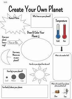 planet earth worksheets ks2 14460 create your own planet solar system projects for planet for solar system activities