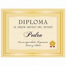 diploma personalizado al mejor abuelo
