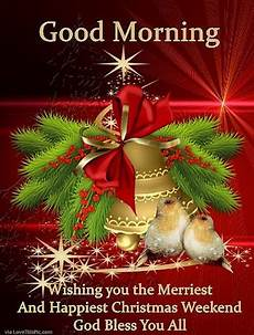 good morning wishing you a merry happy christmas weekend pictures photos and images for