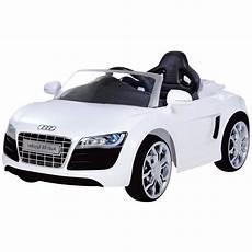 Audi R8 Spydster Blanc Voiture 233 Lectrique Enfant Achat