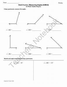 measuring angles worksheet 4th grade free 1956 4 md 6 measuring angles 4th grade common math worksheets from commoncoreresources on