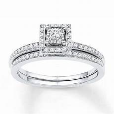 2019 popular princess cut diamond wedding rings sets