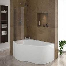 Small Bathroom Ideas With Corner Shower by Estuary Corner Shower Bath 1500mm With Screen Panel