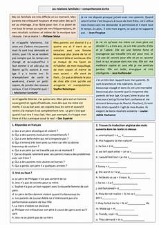 ks4 french family relations reading comp by gianfrancoconti1966 teaching resources