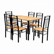 esstisch holz hell dining table and 6 chairs light wood vidaxl co uk