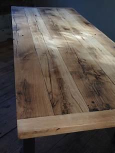 plateau table bois massif 32905 grande table industrielle plateau chene massif pietement metal eiffel