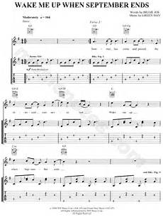 green day quot wake me up when september ends quot guitar tab in g major download print sku mn0048438