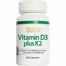 vitamin d3 5000 plus k2 200 90 kapseln vitality