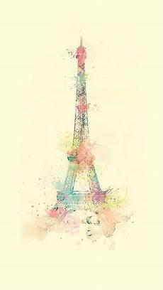 Iphone Lock Screen Watercolor Wallpaper by Eiffel Tower Watercolor Paint Iphone 6 Wallpaper