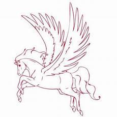 Malvorlage Fliegendes Pferd E053v1 Pegasus Fliegendes Pferd Aufkleber