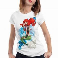 T Shirt Malvorlagen Kostenlos Meerjungfrau Arielle Damen T Shirt Meerjungfrau Biker Rocker