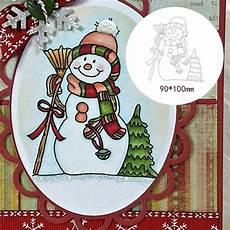 Snowman Metal Cutting Dies Scrapbooking Album by Snowman Metal Cutting Dies For Diy Paper Cards