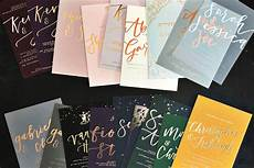 luxury calligraphy foil wedding stationery the golden letter london