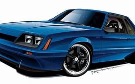 1985 Ford Mustang Lx Coupe Rendering