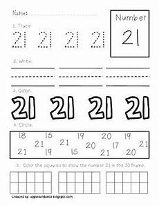 number 21 worksheet printing and recognizing numbers 21 50 by griffo from apples and abc s