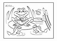 free coloring pages pond animals 17411 frog colouring in picture ichild