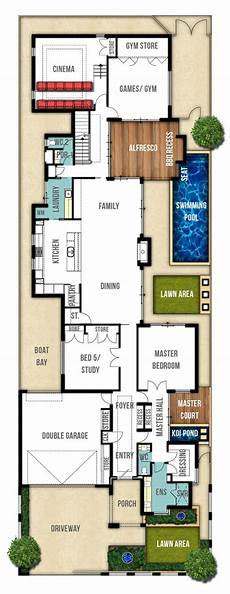 contemporary double storey house plans floor plans