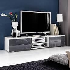 tv lowboard weiss tv lowboard viva 180cm in wei 223 hochglanz lack grau