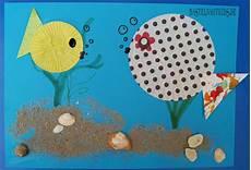 bastelideen sommer kindergarten bunte fische basteln basteln mit kindern