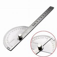 Winkel Messen Mit Zollstock - stainless steel 180 degree protractor angle finder arm