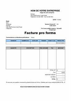 Comment Rédiger Une Facture Facture Pro Forma Template Sle Form Biztree