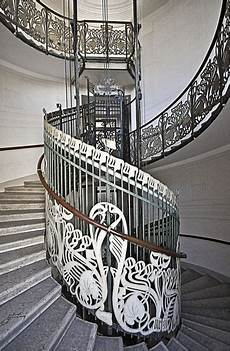 jugendstil innenarchitektur treppe vienna austria designed by otto wagner photo renate1706