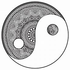 mandala yin and yang to color m alas coloring pages