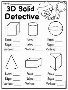 first grade 2d and 3d shapes worksheets distance