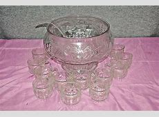 Glassware by Jeanette 26 Piece Crystal Punch Bowl Set