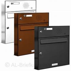 Briefkasten Mit Klingel Aufputz - 1er briefkasten klingel sprechanlage pulverbesch analog