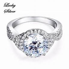 rings 3 carat solid 925 sterling silver bridal wedding engagement ring ls cfr8243 for sale in