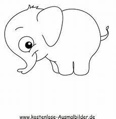 ausmalbilder elefant 4 tiere zum ausmalen malvorlagen