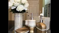 Bathroom Decor Diy by Dollar Tree Diy Glam Bathroom Accessories